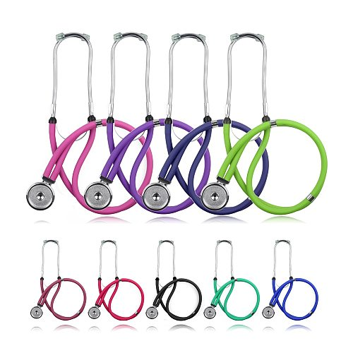 Professional Medical Dual Head Sprague Rappaport Type Stethoscope with Accessories Doctor Cardiology Nurse Cute Stethoscope