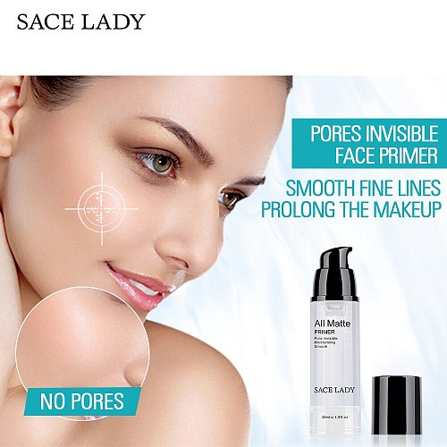 SACE LADY Face Primer Make Up Oil Control Foundation Makeup Natural Base Matte Moisturizing Smooth Fine Lines Cosmetic Wholesale