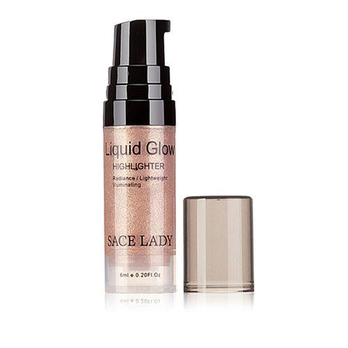 1pc Face Cosmetics Glow Liquid Highlighter Brighten Shimmer Bronzer Liquid Highlighter 3d Makeup Ultra-Smooth Face Glitter