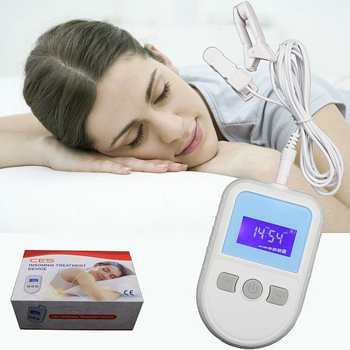 CES Cranial electrotherapy stimulation device for insomnia Sleepless anxiety and depression