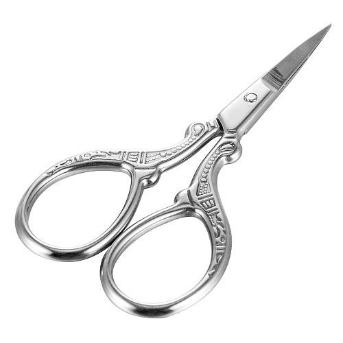 Small Stainless Steel Eyebrow Comb Scissors Manicure Nail Cuticle Trimmer Scissor Beauty Makeup Facial Hair Remover Tool