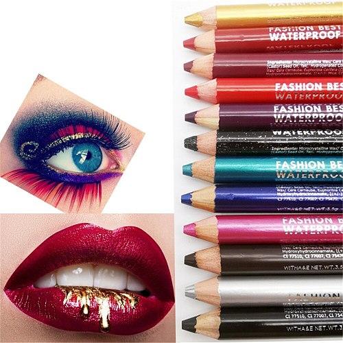 1Pc Eye Shadow Liner Pen Highlighter Waterproof Glitter Matte Eyeliner Pencil 12 Colors Long Lasting Eye Beauty Cosmetic Makeup