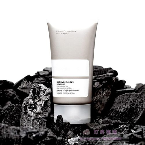 Salicylic Acid 2% Masque Formulated for Blemish-Prone Skin Vegetable Charcoal Amazonian Clays Squalane Ordinary Makeup Eyes Face