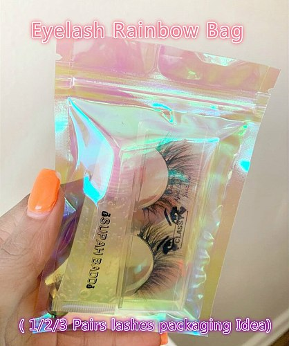 Wholesale Rose Pink Eyelash Packaging Bag Thicken Zipped Lock Reclosable Poly Clear Cosmetic Bag DIY Party Gift Bag Can Logo
