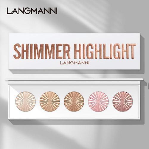 5 Highlighter Facial Bronzers Palette Makeup Glow Face Contour Shimmer Powder Illuminator Highlight Cosmetics Beauty Tools TSLM1