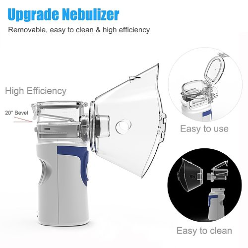 Handheld Medical Nebulizer Inhaler Health Care For Kids Adult Portable Silent Mesh Nebulizer Autoclean Asthma Inhaler Atomizer
