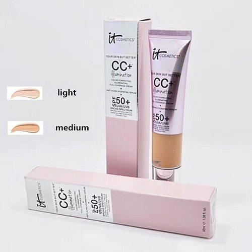 Cosmetic Face Concealer It CC Base Cream Correcteur SPF 50 /40 Medium Light Fondation Corrector Liquid foundation makeup