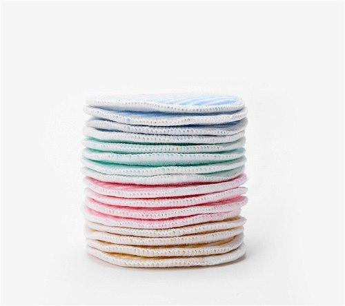 6 pieces of crystal fleece bamboo fiber double-layer makeup remover