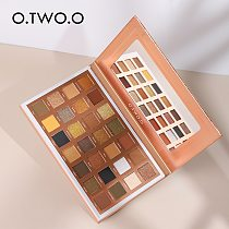 O.TWO.O 28 Colors Eyeshadow Palette Shiny Matte Glitter Smoky Eyes Waterproof Eye Shadow Pallete High Pigment Metallic Makeup