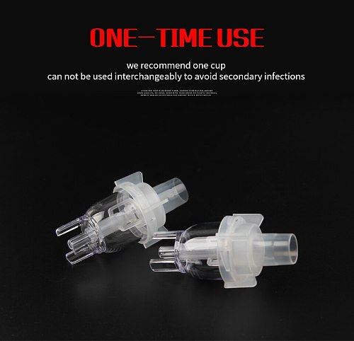 Health Care Atomized Spray Cup Atomizing Cup Aerosol Nebulizer Compressor Sprayer Cup Nosepieces Catheter Inhaler Accessorie