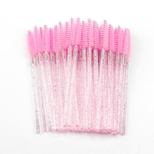New 50Pcs Eyelash Brushes Makeup Brushes Disposable Mascara Wands Applicator Spoolers Eye Lashes Cosmetic Brush Makeup Tools Hot