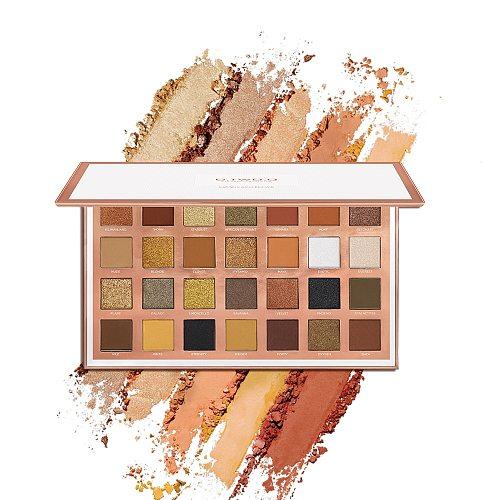 O.TWO.O Eyeshadow Palette Cosmetic Shiny Matte Glitter Pigment Long Lasting Eye Shadow Pallete 28  Colors Metallic Makeup