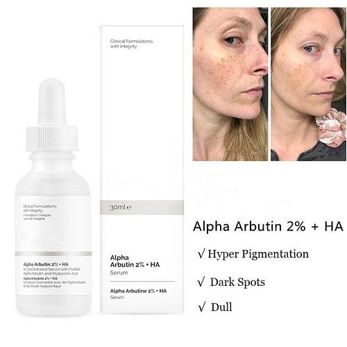 Alpha Arbutin 2% + Ha Ordinary Foundation Liquid Acne Spot Removing Pores Unclog Clear Face Skin  Makeup Oil-control