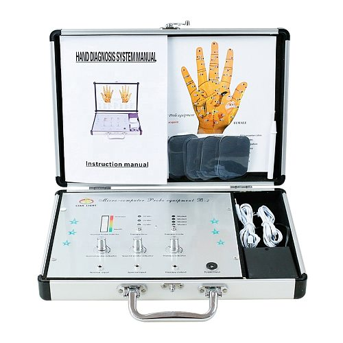Hand acupoint electrotherapy instrument electric stimulation acupuncture massage therapy acupuncture point detection Analyzer