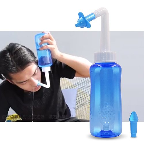 1Set 300ML Nasal Wash Cleaner Nose Protector Cleans Moistens Child Adult Avoid Allergic Rhinitis Neti Pot Dropshipping