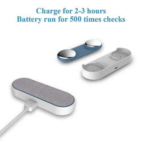 Handheld & Wearable ECG EKG Monitor Track Made Easy EKG Heart Rate Analysis Bluetooth Chargeable For Android Or IOS