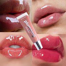 Moisturizing Gloss Plumping Lip Gloss Lip Plumper Makeup Glitter Nutritious Liquid Lipstick Cherry Mineral Oil Clear Lip Gloss