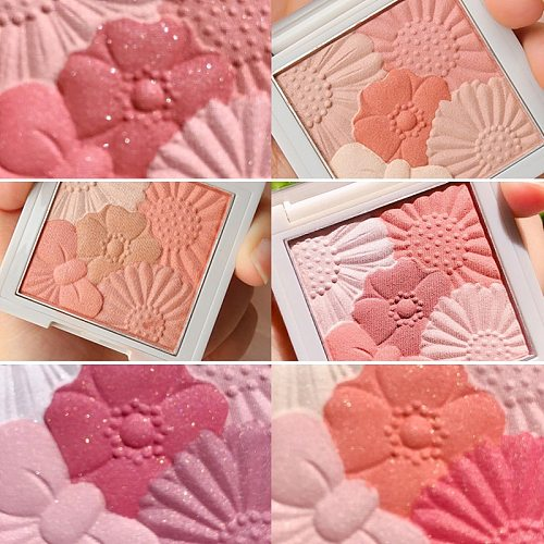 6 Colors Honey Peach Pink Blush Cheek Makeup Brighten Skin Matte Silky Touch Easy To Wear Pigmented Lasting Face Cosmetics TSLM1
