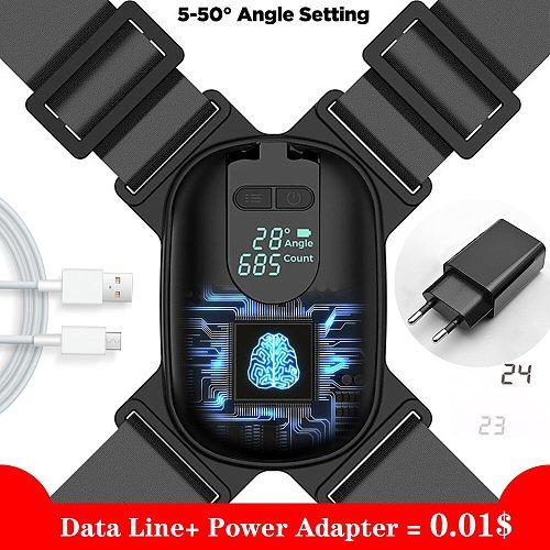 USB Adjustable Anglel Posture Corrector Back Posture Brace Corrector Shoulder Training Belt Correction Spine Back Suppor