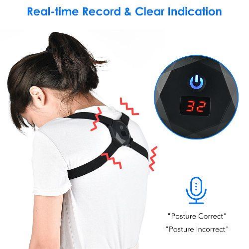 Intelligent Induction Posture Corrector Voice Prompts Upper Back Spine Trainer Adjustable Waist Straps Belt for Men Women Child