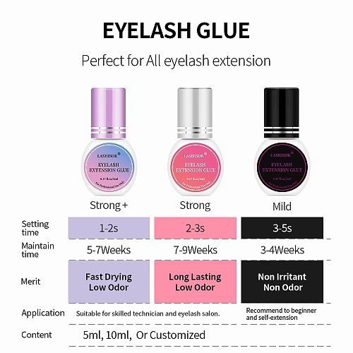 Eyelash Extension Glue Non Odor No Smell Fast Drying Long Lasting Lashes Adhesive Low Smell Mink Eyelash Glue