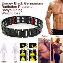 Magnetic Weight Loss Bracelet Body Slimming Anklet Bracelets Titanium Steel Stimulating Acupoints Therapy Slimmer For Men Women