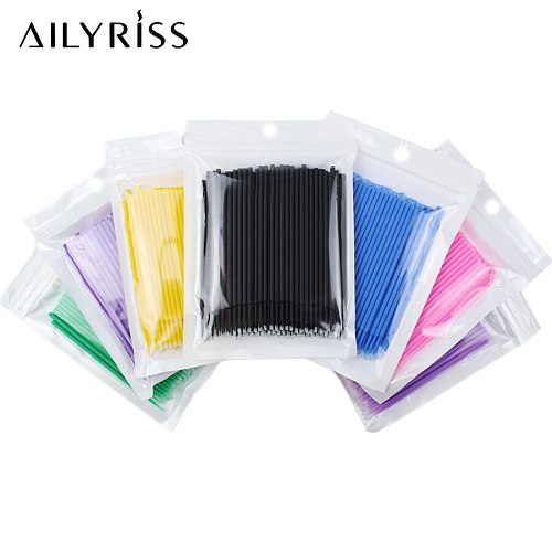 300/500/1000 PCS Micro Brushes Disposable Applicator Swab for Eyelash Extension Mascara Brush Eye Makeup Glue Remove Tool