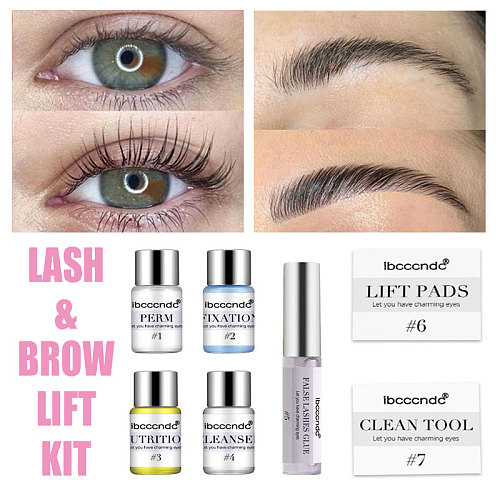 Professional Lash Lift Kit Eyelash Perming Kit for Eyelash Perm with Rods Glue Dropshipping Salon Home Use Lash Lifting Tools