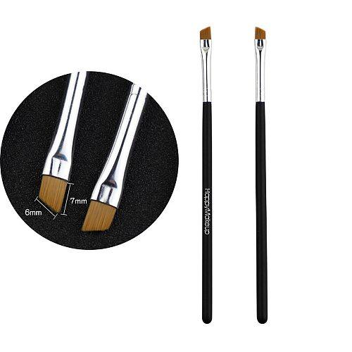 2Pcs Makeup Brush Cosmetic Brushes Kabuki Face Nose Brushes Concealer Foundation Eyebrow Eyeliner Blush Powder Makeup Tool