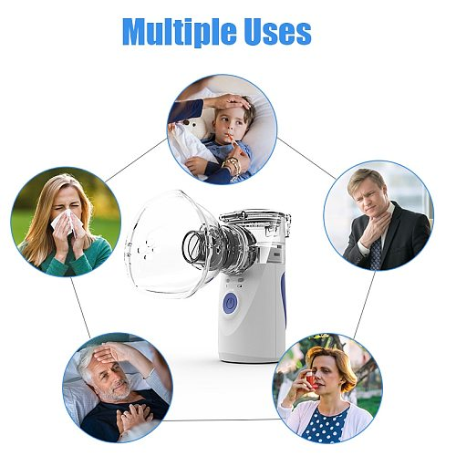 Portable Rechargeable Inhaler Nebulizer Mini Handheld Inhaler Atomizer Silent Ultrasonic Inalador Nebulizador Mesh Nebulizer