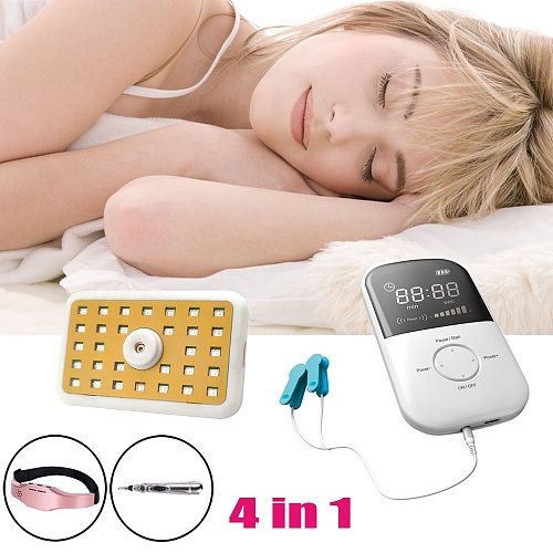 LASTEK 4 in 1 Home Health kit CES Insomnia Treatment Device + Laser Vitality Treasure + Meridian Acupuncture Pen + Head Massager
