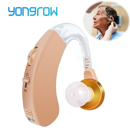 Yongrow Hearing Aid Voice Sound Amplifier Hearing Aids Behind Ear Adjustable Health Care