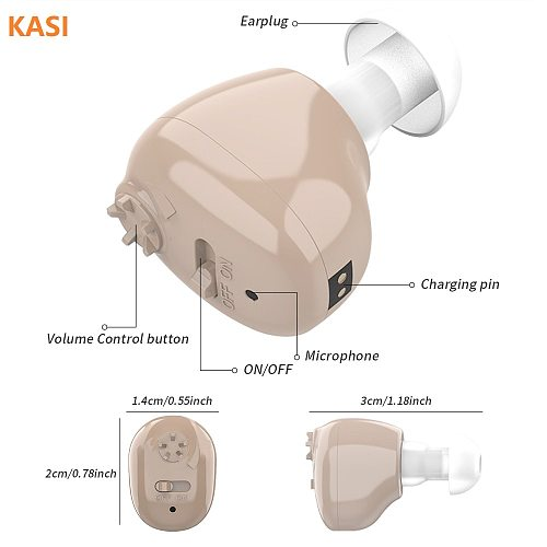 New Mini Rechargeable Hearing Aid Digital Hearing Aids Adjustable Tone Sound Amplifier Portable Deaf Elderly digital Hearing Aid