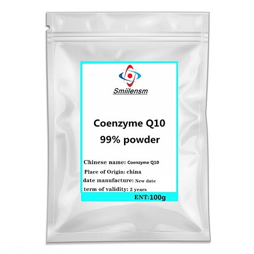 Hot sale Coenzyme Q10 powder Co-Q10 adjustable women/men sex Improves immunity Anti-Aging As a strong antioxidant free shipping.