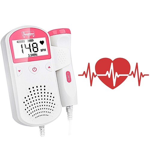 Fetal Doppler Detector Home Women Pregnant Prenatal Fetal Doppler Fetal Listen Baby Monitor Right Test Medical Doppler Monitor