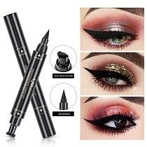 Double-Headed Eyeliner Stamp 2 In1 Quick-drying Liquid Eyeliner Waterproof Easy-to-use Stamp Eye Liner Black Smooth Eye Makeup