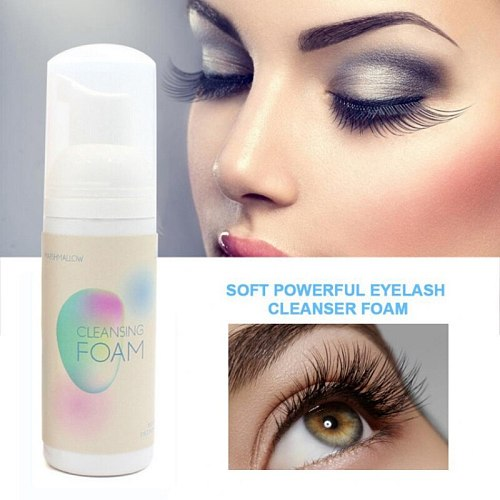 HOT Eyelash Extension Cleanser Foam Mild Non-Irritating Lash Makeup Cleansing Foam Makeup Remover