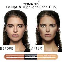 Double Head Liquid Concealer Cream 2 Colors Brighten Face Contour Repair Stick Lasting Highlighter Pencil Makeup Cosmetics TSLM2