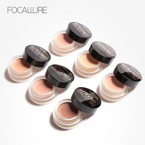 FOCALLURE Full Coverage Concealer Lightweight Waterproof Oil-control Cream Smoothing Highest Coverage Concealer