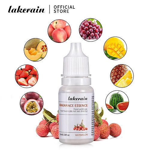 10ml Pure Fruit Fragrance Oil Diffuser Essential Oils Strawberry Flavoring Oil for Lip Gloss DIY Soap Making Lipgloss Essence