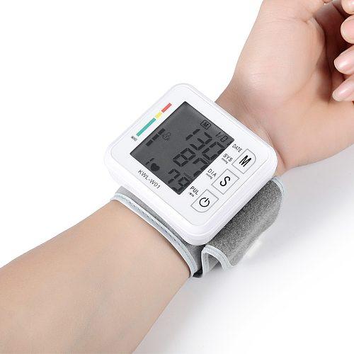 Medical Digital Equipment Wrist Blood Pressure Monitor Automatic Sphygmomanometer Tensiometro Heart Rate Meter BP Tonometer
