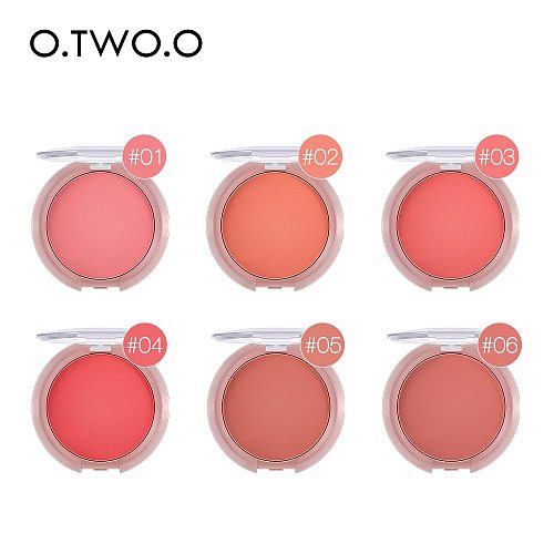 O.TWO.O Bouncy Blush Matte Makeup Lightweight Face Blusher Natural Rouge Cheek Blusher Peach Contouring For Face  Cosmetics