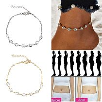 Fashion Crystal Bracelet Gold and Silver Weight Loss Magnetic Therapy Ankle Weight Loss Products Slimming Health Jewelry
