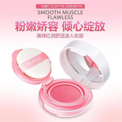 BIOAQUA Air Cushion Blusher Palette  BB Cream Makeup Mineral Blush Powder Brighten Concealer Long Lasting Foundation Beauty L