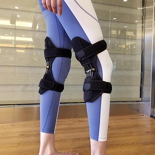 1 Pair Humerus Booster Knee Joint Old Cold Leg Knee Brace Support Strap Mountaineering Squat Black Exquisitely Designed Durable