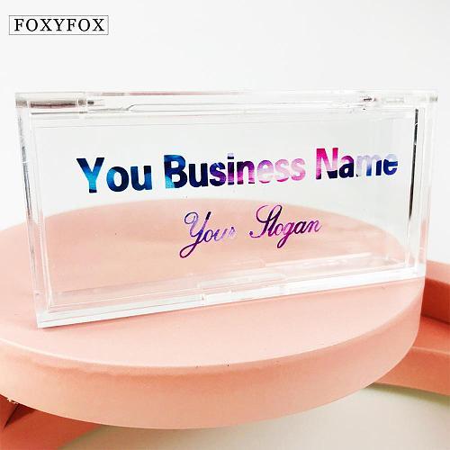 FOXYFOX Empty acrylic eyelash packaging box private label packaging 3d mink lash box eyelash packaging box bulk custom logo