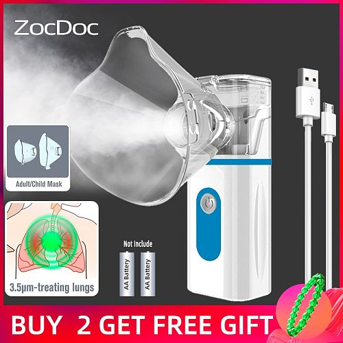 Mini Handheld portable autoclean Inhale Nebulizer Mesh atomizer silent inhaler nebuliser inhalator for kids nebulizador portatil