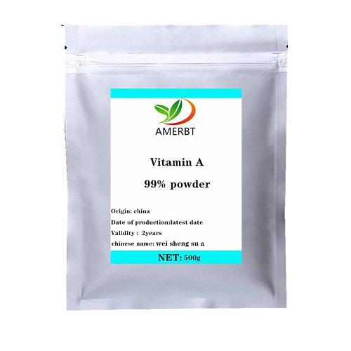 GMP Factory Standard 100% pure retinol powder Vitamin A Palmitate Powderall-trans-Retinol 250000IU CAS 79-81-2  Free shipping