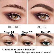 5 Colors 3D Magic Microblading Eyebrow Pencil  Makeup Tool Tint 4 Tip Liquid Brow Tattoo Pen Waterproof Cosmetic Eyebrow Liner