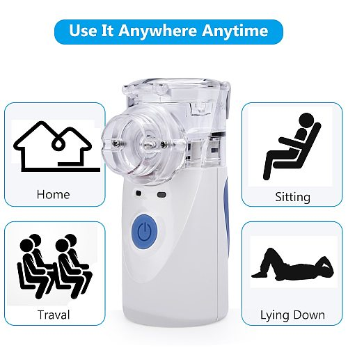 Handheld Portable Nebulizer Medical Humidifier Inhaler Silent Atomization Fine Particles Asthma nebulizador Health Care adulto